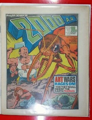 2000AD PROG 84 Dredd Cursed Earth Lovely Issue - Death of Spikes Harvey Rotten !