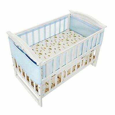 Holoras Baby Breathable Mesh Crib Liner, Nursery Crib Bumper for Standard Cribs,
