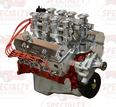 SMALL BLOCK CHEVY 350 CI, 435 HP Crate Engine with Hilborn Style Fuel  Injection