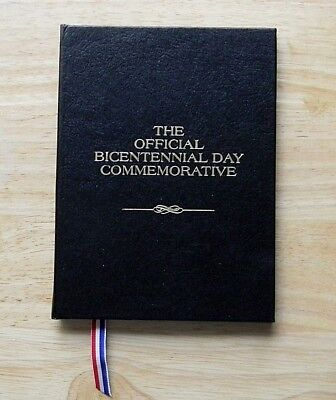 1976 Official Sterling Silver Bicentennial Day Commemorative Medal Coin + Album