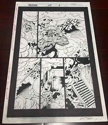 Wolverine and Stick (Daredevil).  Original Comic book Art, Published.Comic Page
