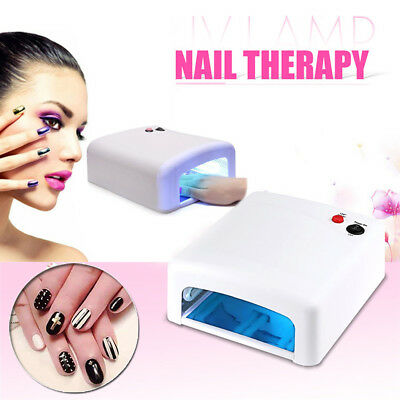 36W UV Lamp Gel Polish Curing Nail Art Dryer Manicure 120sec Timer With 4 Bulbs