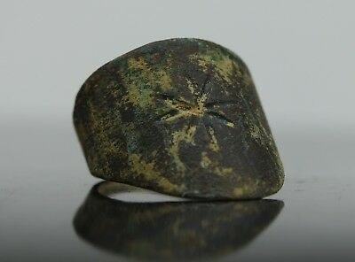 Medieval Period Bronze Decorated Archer's Ring  900-1200 AD