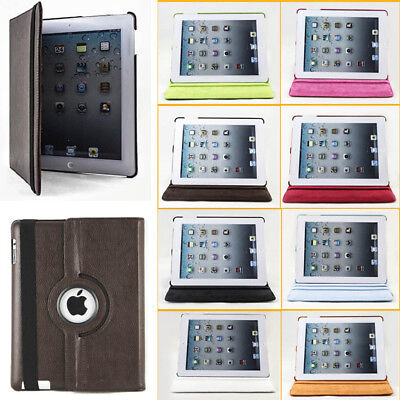 Mini Leather Case Rotates 360 Degrees Magnetic Cover Stand For Apple iPad 2 3 4