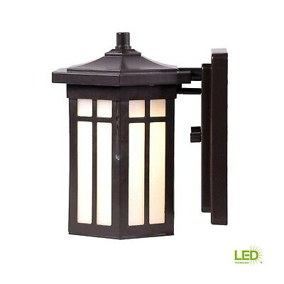 Home Decorators Collection Antique Bronze Outdoor LED Small Wall Light DW7030ABZ