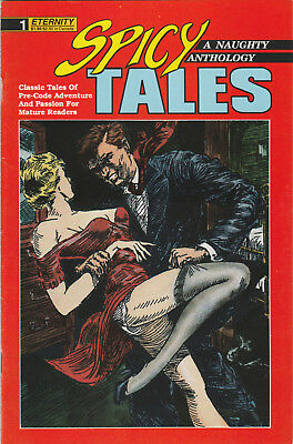 Spicy Tales #1 FN 1988 Eternity Comics Pre-Code Pulp Comic B&W reprint anthology