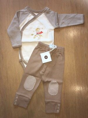 Baby's Vest And Trousers Set - Brand New - 100% Organic Cotton - Newborn - SALE!