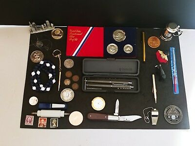 Coins And Collectibles Including Silver Coins Pens Knife And More