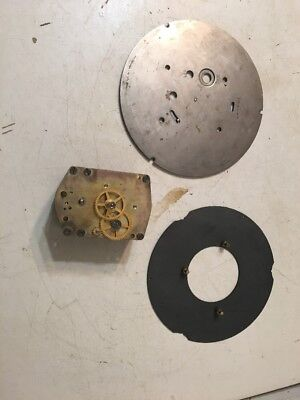 """Seth Thomas WWII Era Ships Clock Movement With Plates For 6"""" Dial Rear Wind #1"""