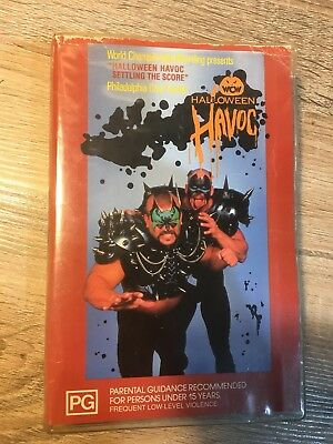 WCW Halloween Havoc Rare Australian Pal VHS Video Tape WWF Wrestling