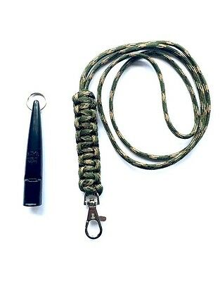 ACME 210.5 Gundog Whistle & Woodland Camo Cobra Stitch Design Lanyard 210 1/2