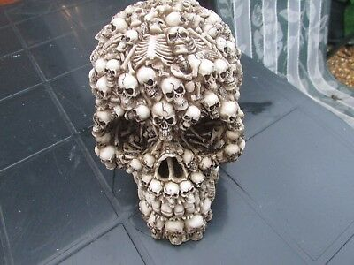 LATEX MOULD MOLD OF AN EXTRA LARGE  SKULL OF SKULLS  14CMS X 10CMS X l0CMS