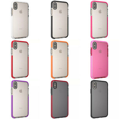 For iPhone Xs Max iPhone X XR EVO Check Shockproof Impact Mesh TPU Case Cover