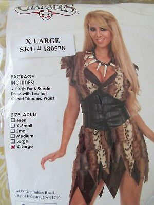 Charades Cave Woman Adult Halloween Costume X-Large
