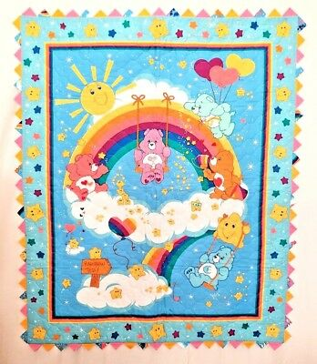 Care Bears Baby Quilt Blanket Rainbow Prairie Points Edge Teddy Wall Hanging