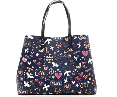 ef15a62bbe40 NWT TORY BURCH PEACE Large Kerrington Square Bag Tote in Navy  295+ -   249.99