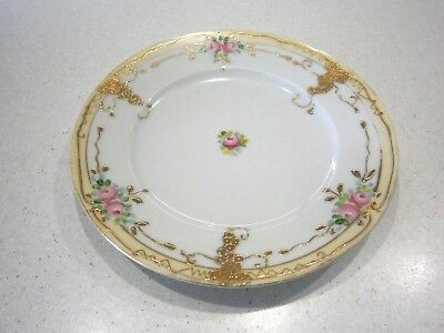 Vintage Hand Painted Butter Plate With Gold - Made In Japan - 15 Cms Across
