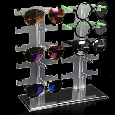 Sunglasses Holder Rack Glasses Show Display Stand Organizer 5/6/10 Pair