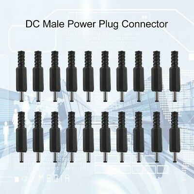 20PCS 3.5mm x 1.35mm DC Male Power Adapter Plug Jack Connector DC Socket Adapter