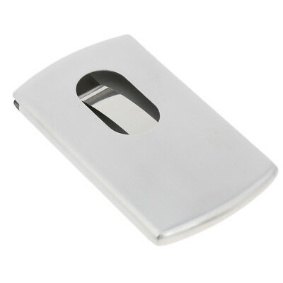 Business Name Credit Card Holder Stainless Steel Metal Wallet Case Hand-Push