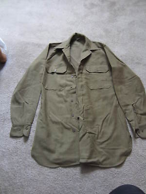 Ww2 U.s. Army  (Special)  Gas Flap Combat Shirt Flannel Dated 1944 Mint
