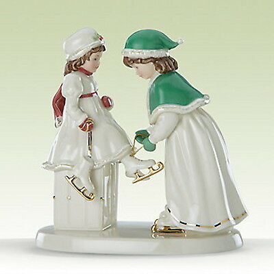 Lenox Going Skating Figurine Victorian 2 Girls Sisters Mother Daughter New Box