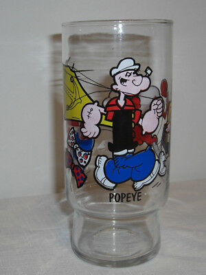 Popeye glass Pepsi Fried Chicken 1978 King Features Olive Oil Sweet Pea Brutus