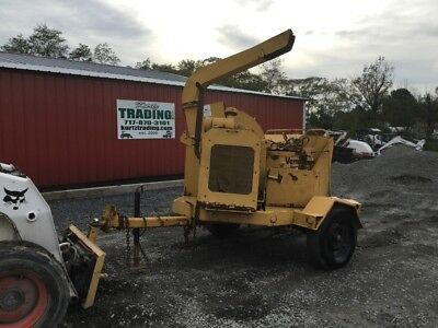 "1996 Vermeer BC1250 Diesel Towable 12"" Wood Chipper."