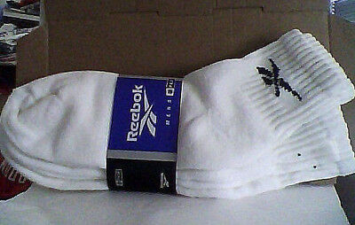 Vtg Unworn NOS Reebok 3-Pack Men's Quarter Length Socks 1997 90s