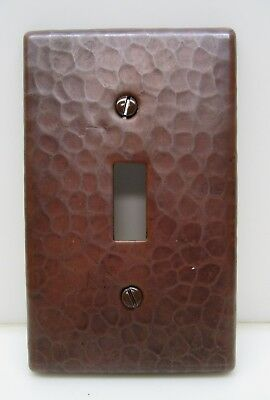 Hammered Copper Switch Plate Cover Single Toggle Arts & Crafts Mission