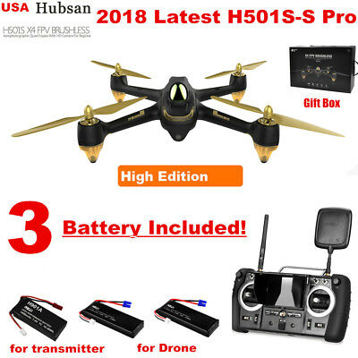 Hubsan H501SS Pro FPV Drone 5.8G 1080P Brushless GPS RC Quadcopter RTF