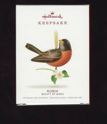"2018  ""ROBIN""  Hallmark  Keepsake Ornament  14th  BEAUTY OF BIRDS  Series"