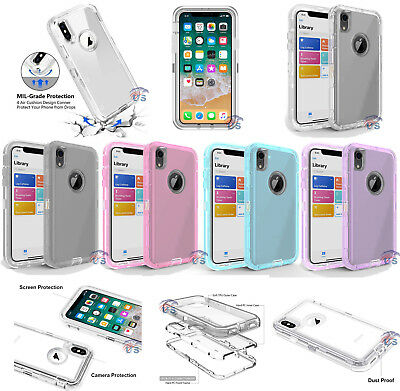 For Iphone X Xr Xs Xs Max Shockproof Crystal Case Otterbox Inspired