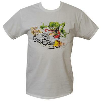 T Shirt Rat Fink tales MENS WHITE ALL SIZES S TO 3XL Vintage Car hot rod