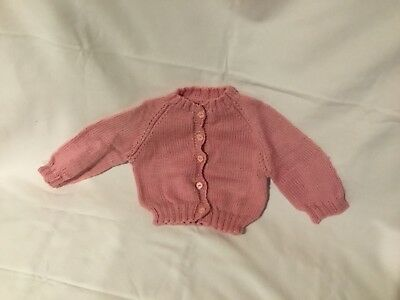 Pink bay cardigan size 0 suit 9 month old