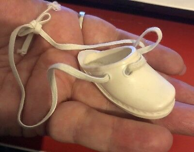Vintage Ideal Crissy Family Dina White Clog Left Complete With Laces