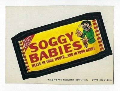 1974 Topps Wacky Packages 7th Series 7 SOGGY BABIES ex o/c