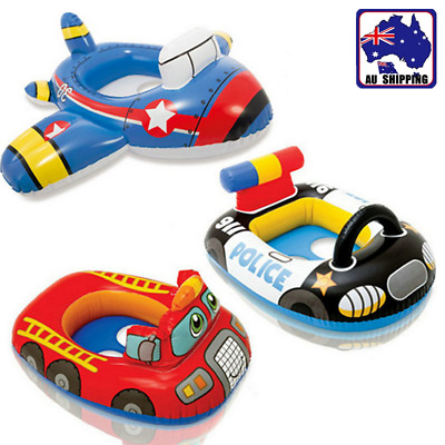 Cartoon Baby Kids Inflatable Swimming Ring Pool Seat Float Boat Trainer OSWI992