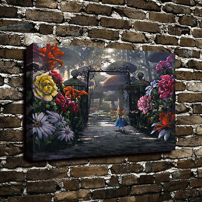 Disney Alice in Wonderland Canvas Print Art Oil Painting Garden Home Wall Decor