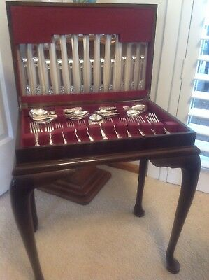 Stunning Cutlery Cabinet With Cabriole Legs