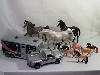 Vintage Breyer Molding Co Reeves Horse Lot of 9 3 Classic 6 Stablemates late 90s