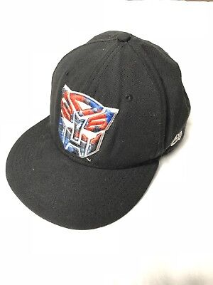 New Era 59Fifty Optimus Prime Transformers Hat Cap Fitted Black Red 7 1 2 5c1704564cf4