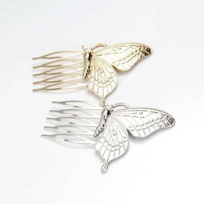 Fashion Style Women Girls Alloy Butterfly Hair Comb Headwear