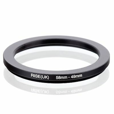 RISE(UK) 58-49 58-49mm  Matel Step Down Ring Filter Camera Adapter 58-49