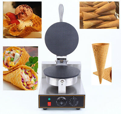 Commercial Electric Nonstick Ice Cream Cone Machine Waffle Egg Roll Maker 220V