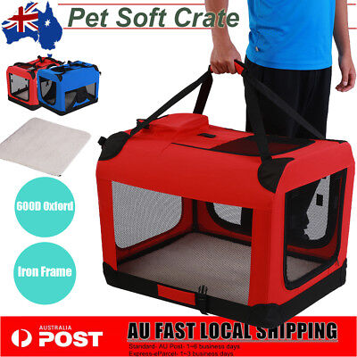Large Pet Soft Crate Portable Dog Cat Carrier Travel Cage Kennel Foldable Puppy