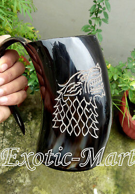 Viking Drinking Horn Mug For Beer Wine Lovers Handmade Natural Design Mug GIFT