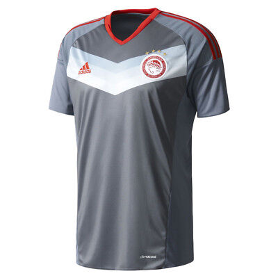 adidas Performance ClimaCool Olympiacos Football Club Away Jersey T-Shirt V-Neck