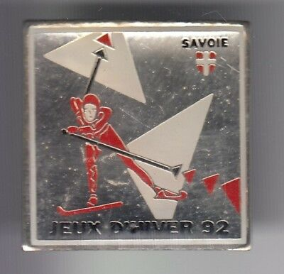 Rare Pins Pin's ..  Olympique Olympic Jeux Albertville 92 Ski Skiing Savoie ~18