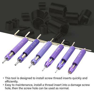 50X Stainless Steel Coiled Wire Helical Thread Repair Insert Install Tool Kits